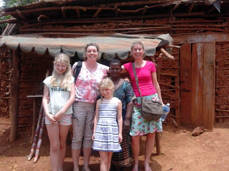 Familie Zandvliet op bezoek bij Jane