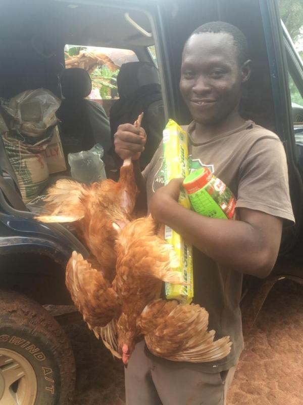 Blij met een kip voor kerst!