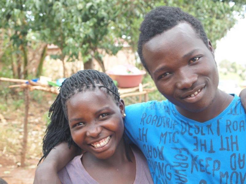 Broer (James) en zus (Monica)!